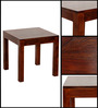 Oakland Four Seater Dining Table in Provincial Teak Finish by Woodsworth