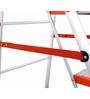 Bathla  Aluminium 5 Steps 7.21 FT Ladder with platform
