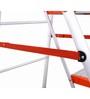 Bathla  Aluminium 6 Steps 8.10 FT Ladder with platform