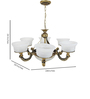 Bawtry Chandelier in White by Amberville