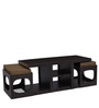 Baxter Coffee Table with Two Stools in Beige Colour by Auspicious