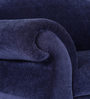 Bayley Single Seater Sofa in Navy Blue Colour Finish by Amberville