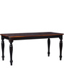 Dallyn Six Seater Dining Set in Dual Tone Finish by Amberville