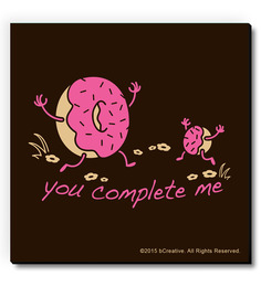 Bcreative You Complete Me Doughnut (Officially Licensed) Fridge Magnet