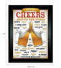 bCreative Paper & Fibre 13 x 1 x 17 Inch Cheers Around The World Beer Officially Licensed Framed Poster