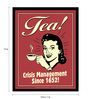 bCreative Paper & Fibre 13 x 1 x 17 Inch Tea! Crisis Management Since 1652! Officially Licensed Framed Poster