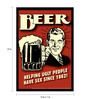 bCreative Paper & Fibre 13 x 1 x 19 Inch Beer Helping Ugly People Have Sex Since 1862! Officially Licensed Framed Poster
