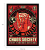 bCreative Paper & Fibre 13 x 1 x 19 Inch Chaos Society Unity Through Defiance Officially Licensed Framed Poster