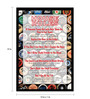 bCreative Paper & Fibre 13 x 1 x 19 Inch House Rules Officially Licensed Framed Poster