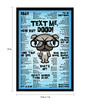 bCreative Paper & Fibre 13 x 1 x 19 Inch Text Me Dood Officially Licensed Framed Poster