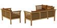 Belmond Teak Wood (3+2+2) Sofa Set in Natural Teak Finish by CasaTeak