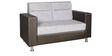 Best Dual Tone Two Seater Sofa in Grey Colour by Parin