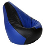 Bean Bag Without Beans in Black & Blue Leatherette by TJAR