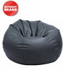 Bean Bag Without Beans in Grey Leatherette by TJAR