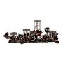 The Frame Address Multicolour Mild Steel with Swarovski Crystals Candle Platter - Set of 4