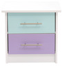 McCheri Bed Side Table in Blue and Violet Colour by Mollycoddle