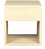 Bedside Table in Sahara Walnut Finish by Arancia Mobel