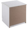 Bedside Table with Two Drawers in Off White Colour by Pindia
