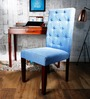 Ballans Button Chair in Ocean Blue Color by Amberville