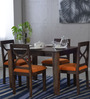 Santa Fe Ivy Four Seater Dining Set in Provincial Teak Finish by Woodsworth
