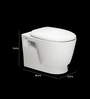Bell White Ceramic Wall Mounted Water Closet (Model: 9013)