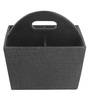 Belmun Black Jute Finish Leatherette Cutlery Holder