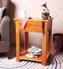 Belo Solid Wood End Table in Natural Finish by Woodsworth