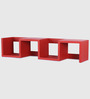 Benevento Mdf Wall Shelf In Red by Casacraft