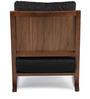 Benton Arm Chair in Charcoal Black Colour by HomeHQ