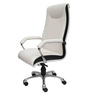 Benz Director Chair in White Leatherette by Starshine