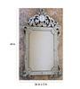 Berfeld Decorative Mirror in Silver by Amberville
