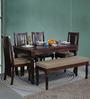Bergamo Six Seater Dining Set in Honey Oak Finish by Amberville