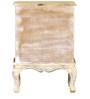 Marlesford Bed Side Table in Lime Wash Finish by Amberville