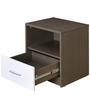 Berry Night Stand in Walnut & White Colour by @Home