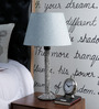 Isabella Table Lamp in Blue by CasaCraft