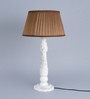Beverly Studio Brown Poly Cotton Table Lamp