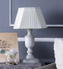 Beverly Studio White Poly Cotton Table Lamp