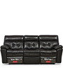 Beverly Three Seater Sofa with Two Recliner Seats by @ Home