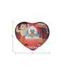 Bheem Digital Printed Filled Heart Cushion Pillows in Multicolour by Orka
