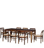 Bibiana Eight Seater Dining Set in Provincial Teak Finish by Woodsworth