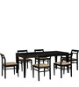 Bibiana Six Seater Dining Set in Espresso Walnut Finish by Woodsworth