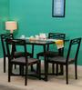 Binita Four Seater Dining Set in Espresso Walnut Finish by Woodsworth