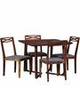 Binita Four Seater Dining Set in Honey Oak Finish by Woodsworth