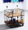 Bisha Bar Trolley in Rustic Finish by Bohemiana