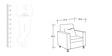 Black Tulip Sofa Set (3 + 1 + 1) Seater by ARRA