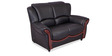 Blos Two Seater Sofa in Eerie Black Colour by Durian