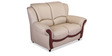 Blos Two Seater Sofa in Pebble Beige Colour by Durian