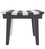 Black and White Wooden Stool by SmalShop