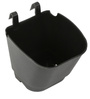Black Vertical Hook Pot  (Pack of 100) By Chhajed Garden