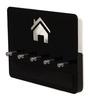 Bluewud Wenge & Black Acrylic & MDF Amadour Wall Key Chain Holder Rack